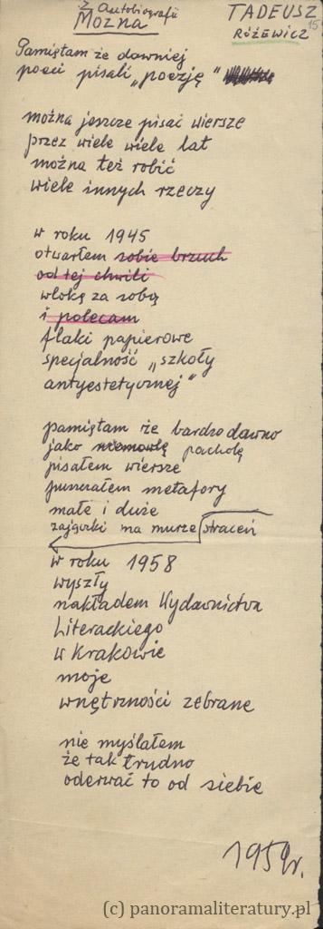 Rozewicz_Handschrift