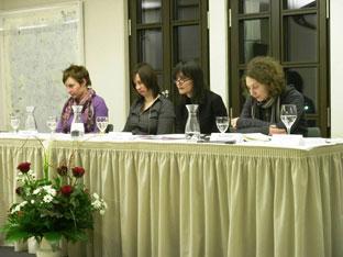 Noémi Kiss, Kathrin Röggla, Ilma Rakusa, Nicoleta Esinencu