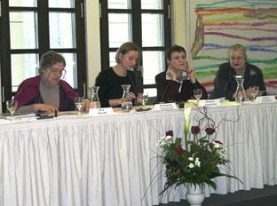 Eva Karadi, Katharina Narbutovič, Oksana Zabužko, Borka Pavićević